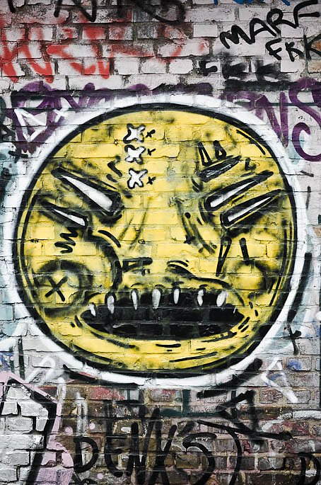 Scary yellow face