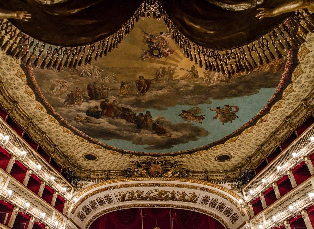 Ceiling of the Teatro di San Carlo