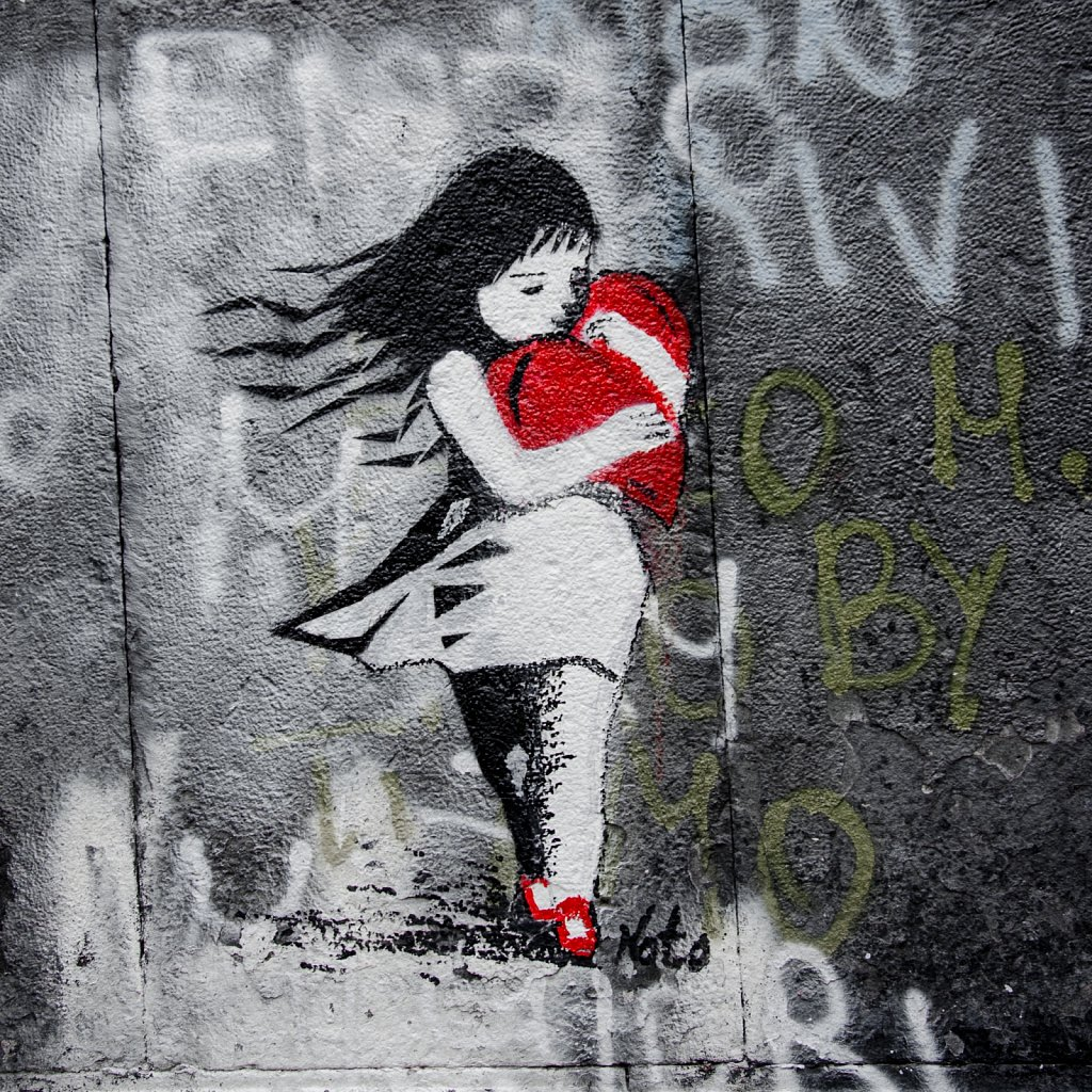 Girl with the red heart